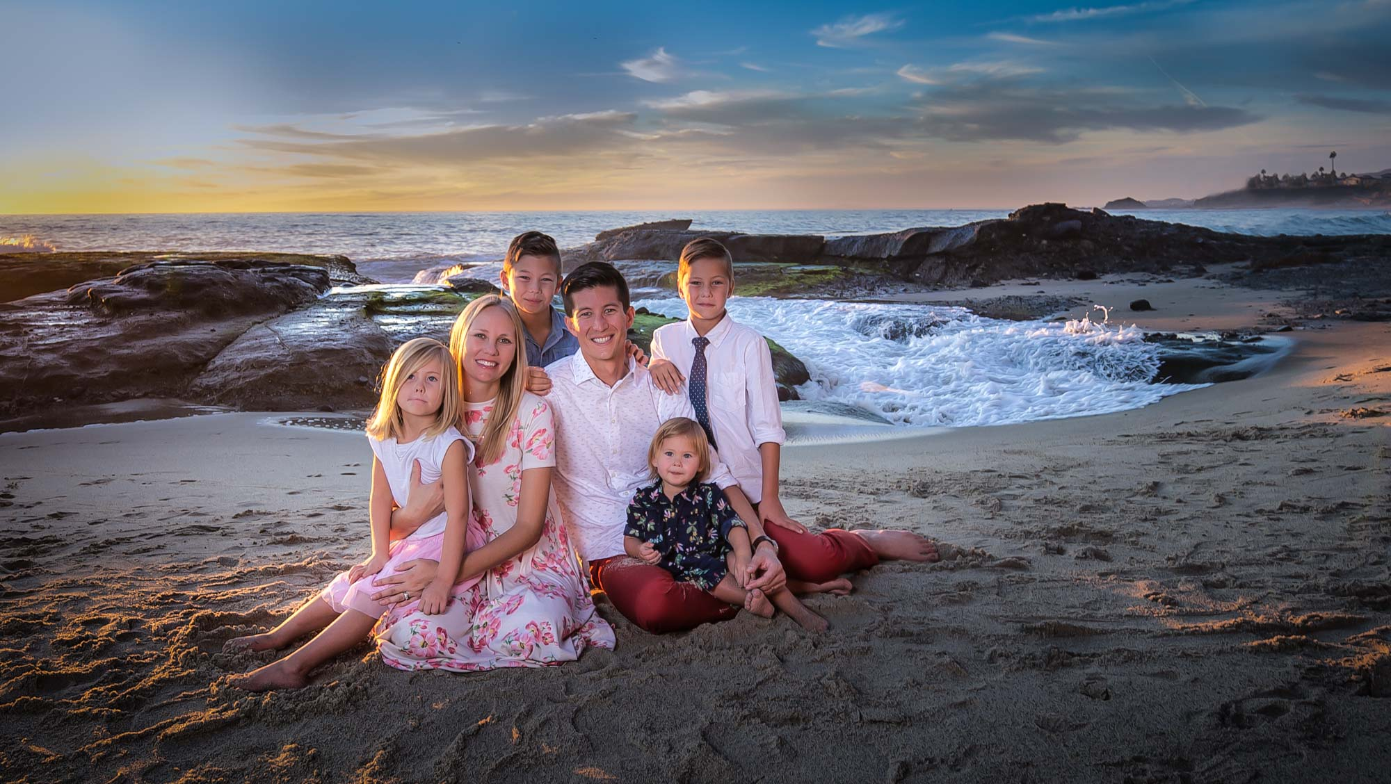 Aida Family Portrait Laguna Beach California