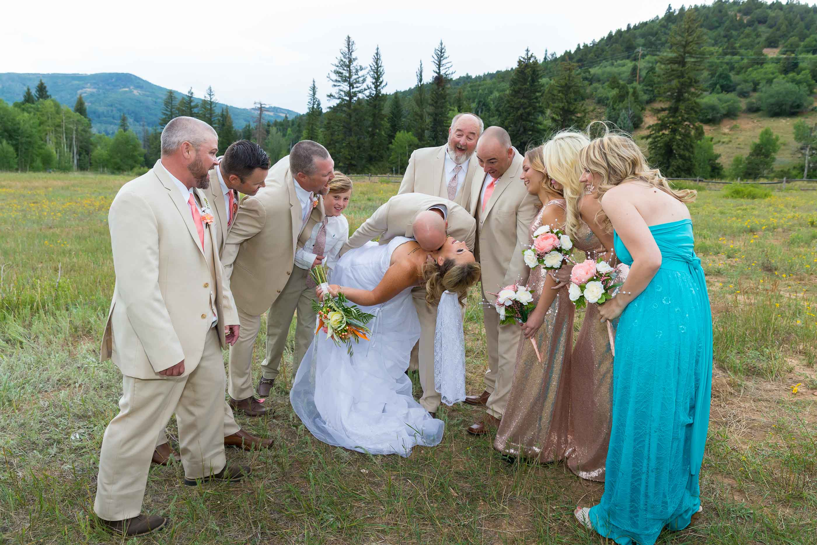 Cedar City Mountain Wedding Party
