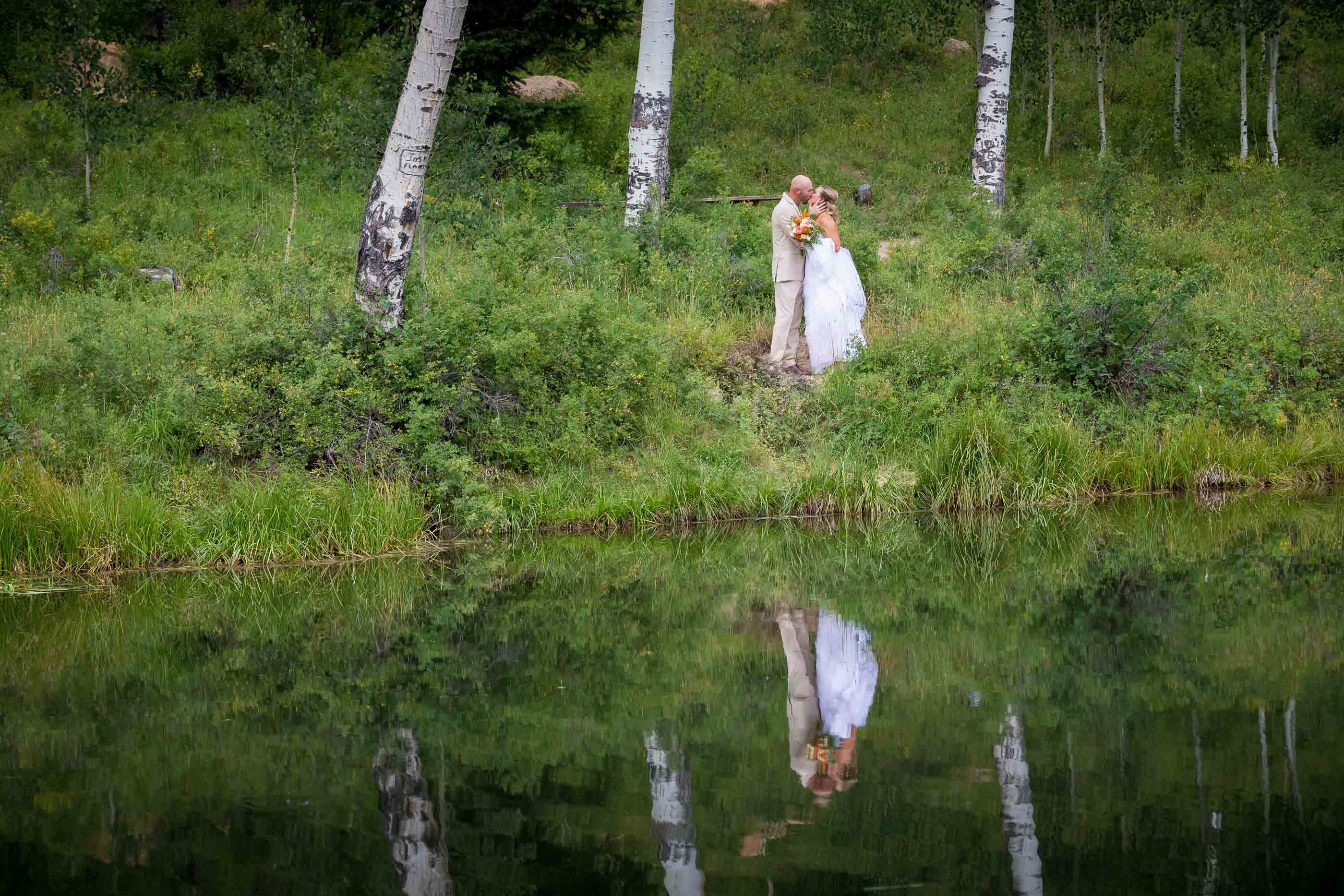 Cedar City Mountain Wedding while at lake