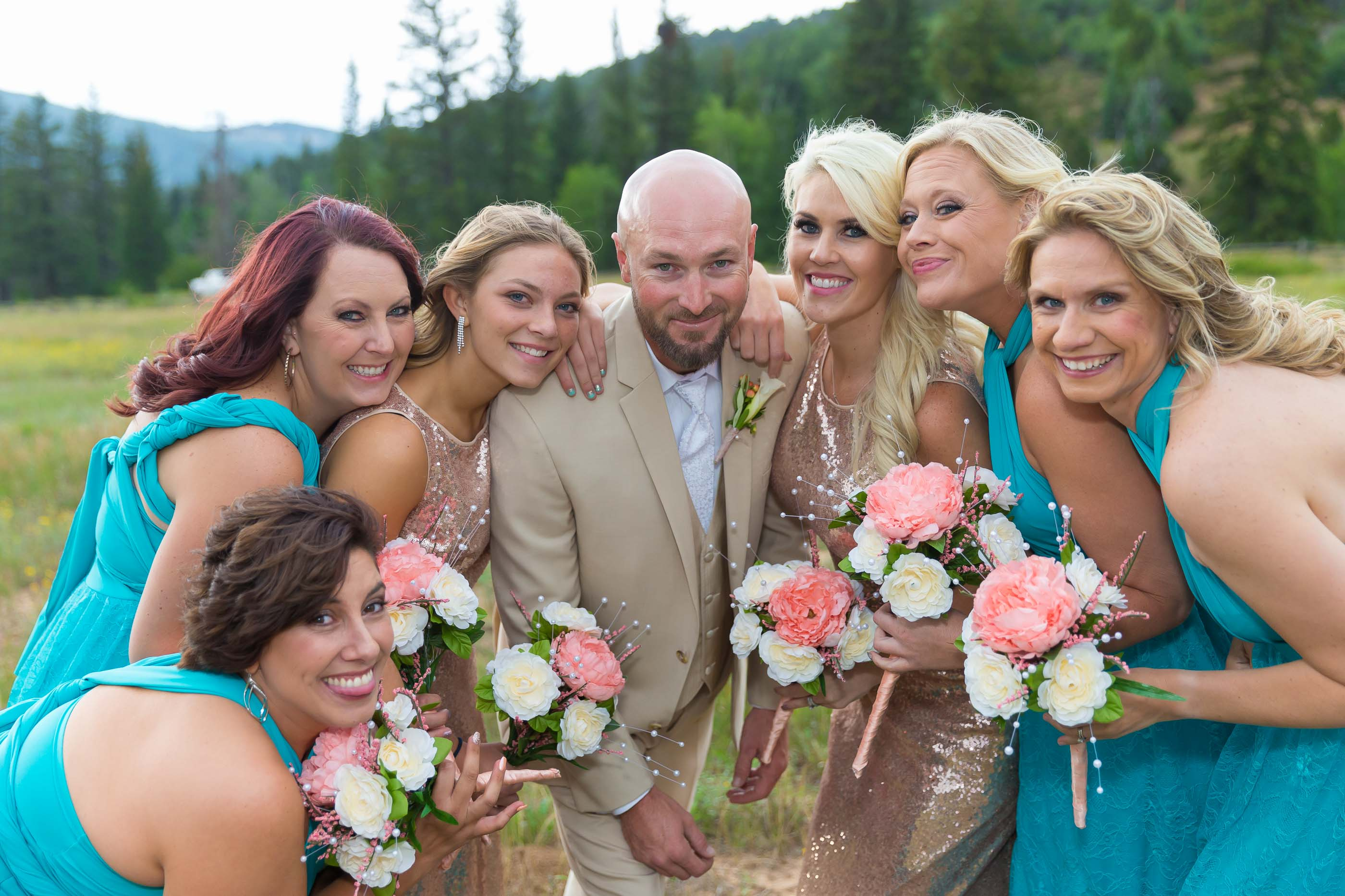 Bridal Party with Groom