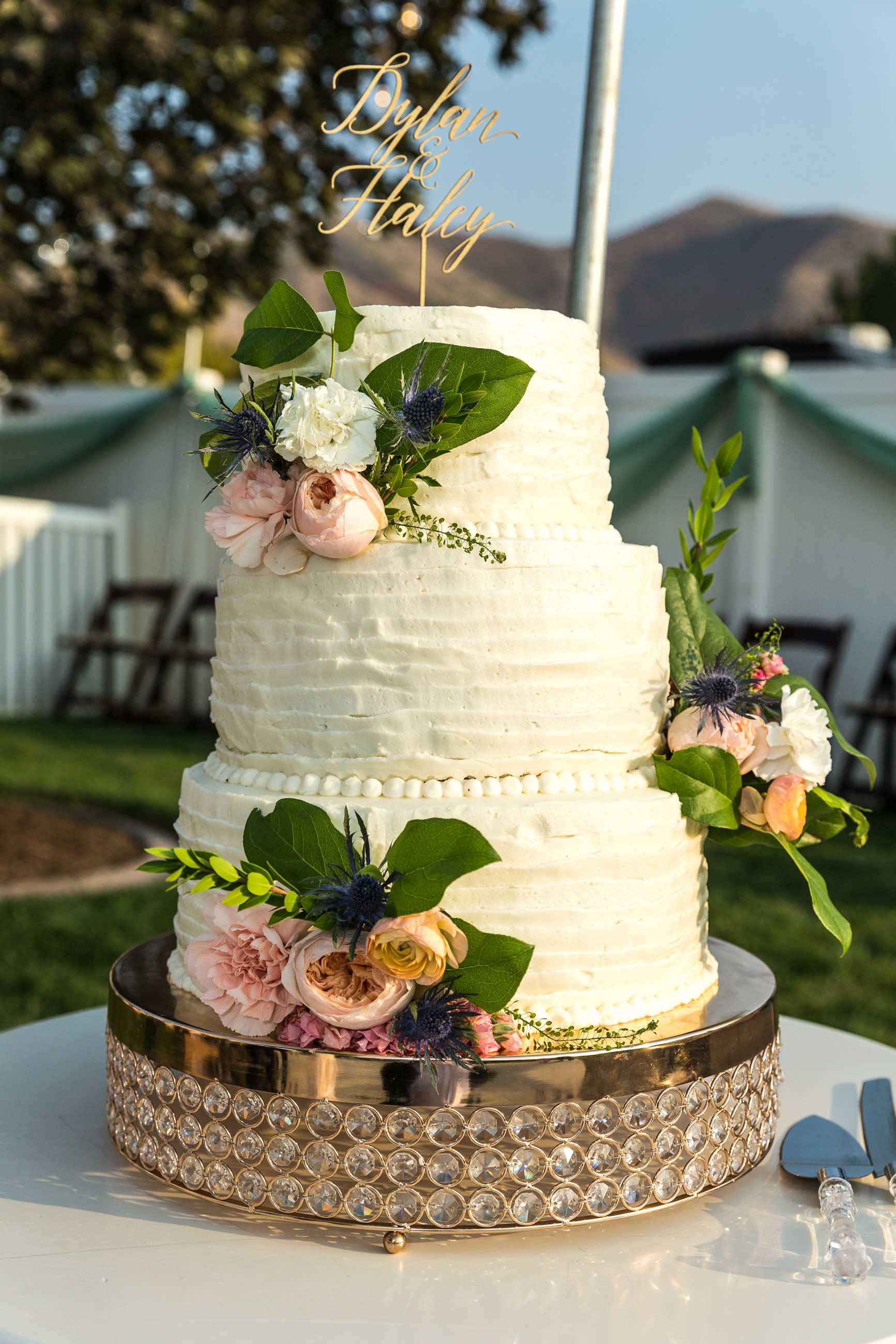Dylan & Haley Cunningham Wedding Cake