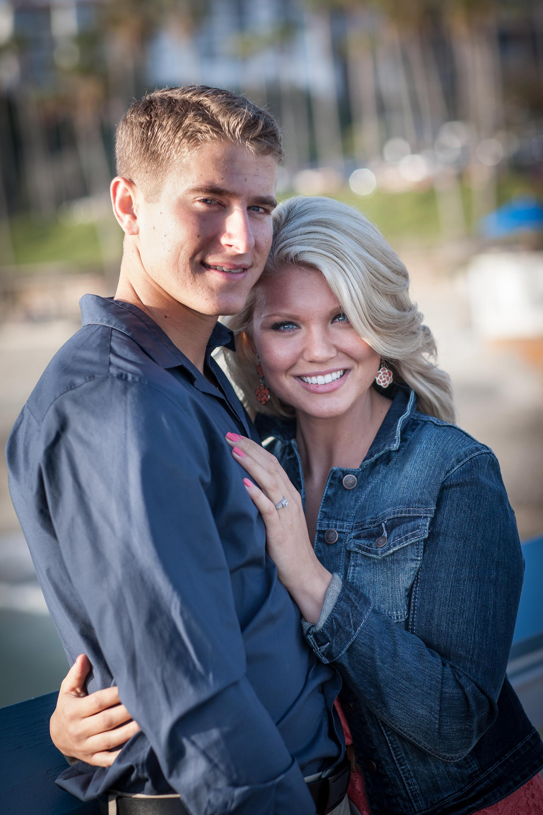 Engagement Images San Clemente Pier Danielle and John Galloup