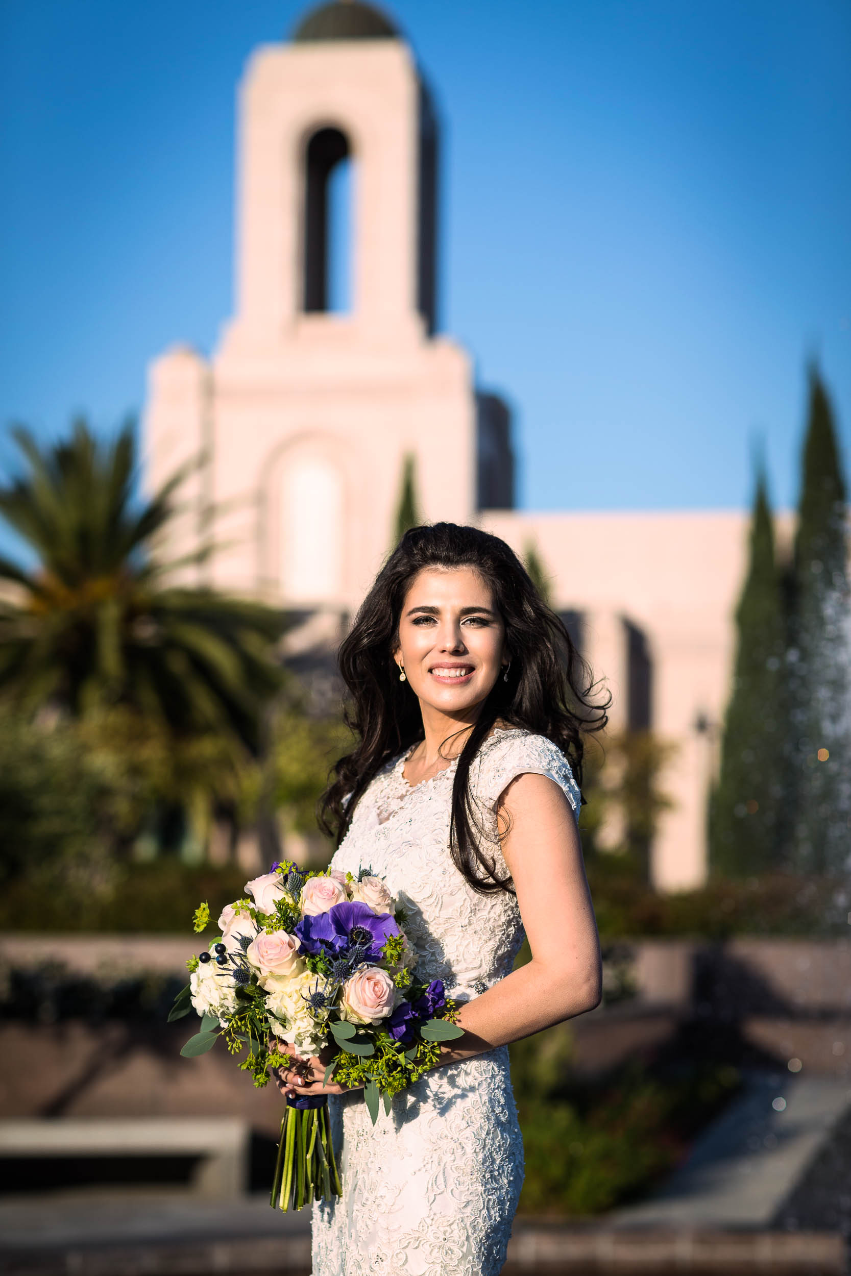 Gabriela Macias Trent Evans LDS Newport Beach Temple marriage
