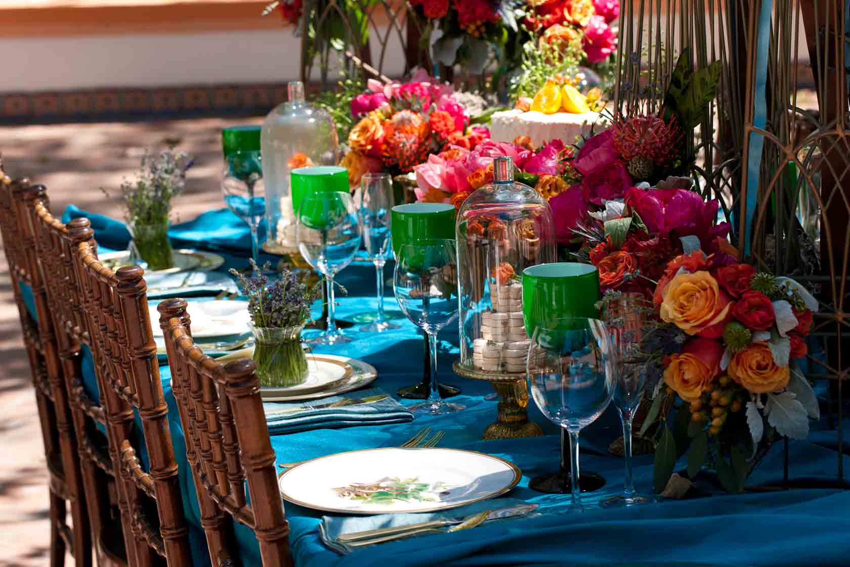 Beautiful Table setting for Reception