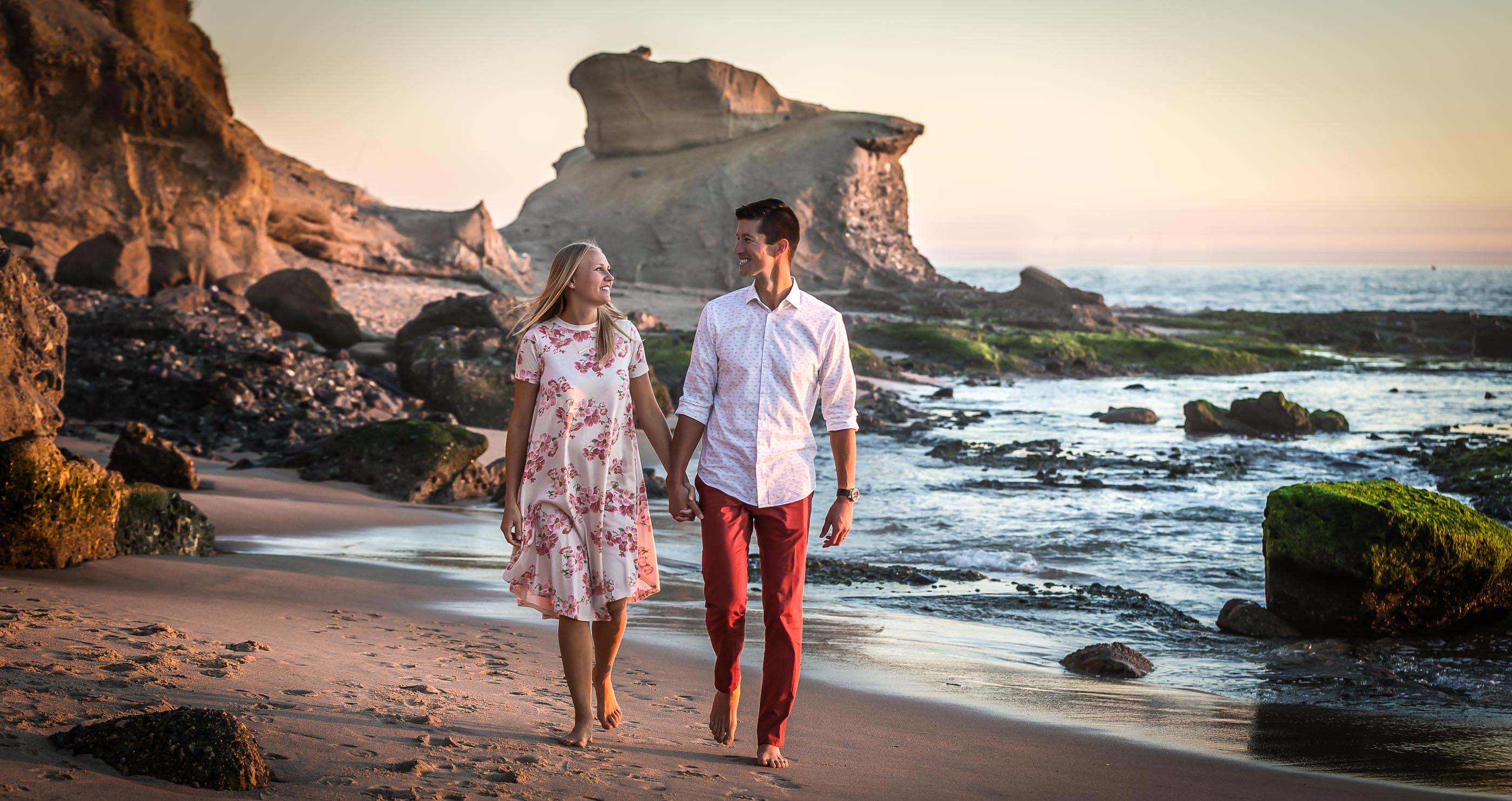 Warm Sunset at Laguna Beach Engagement