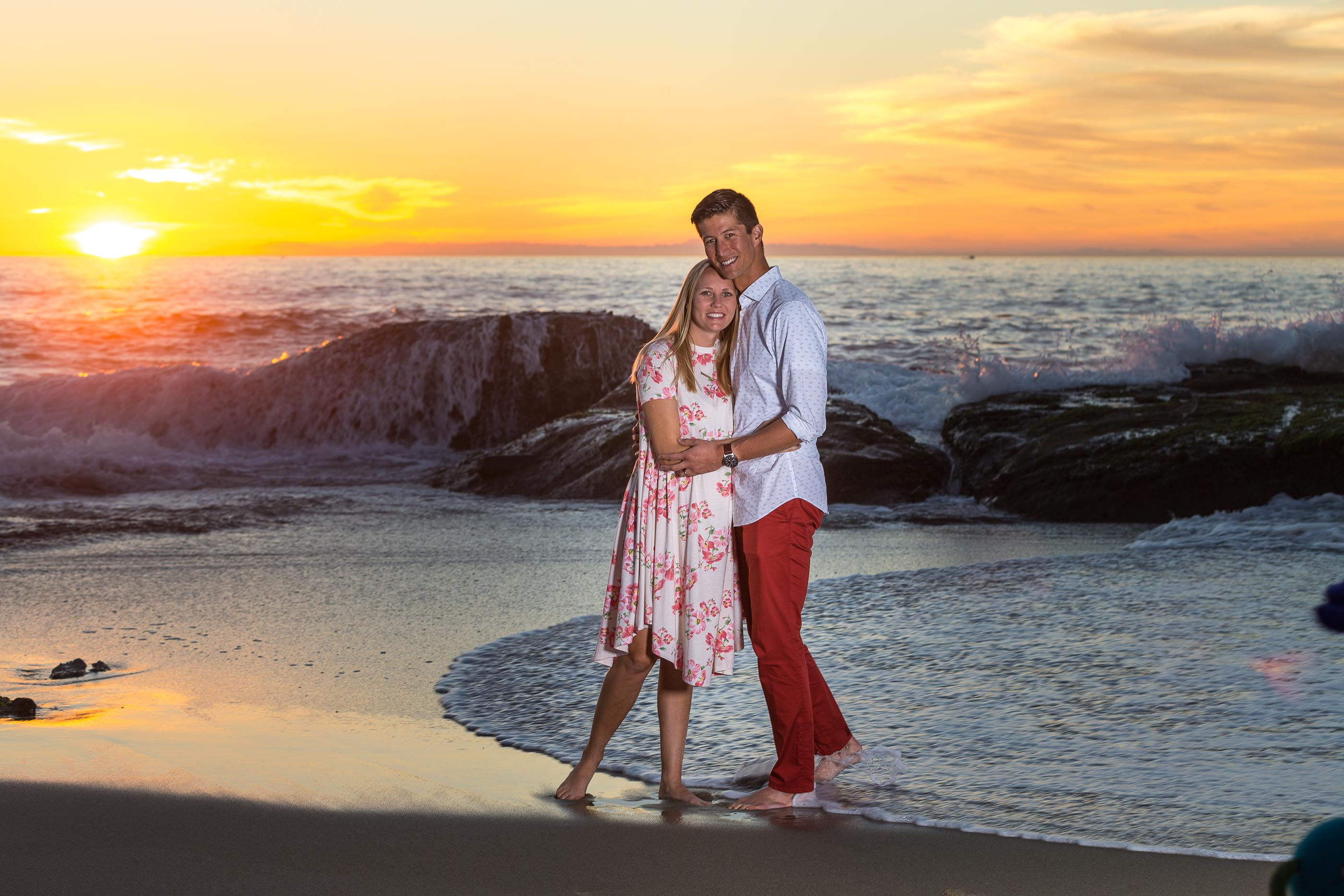 Laguna Beach Engagement at sunset in Laguna Beach California