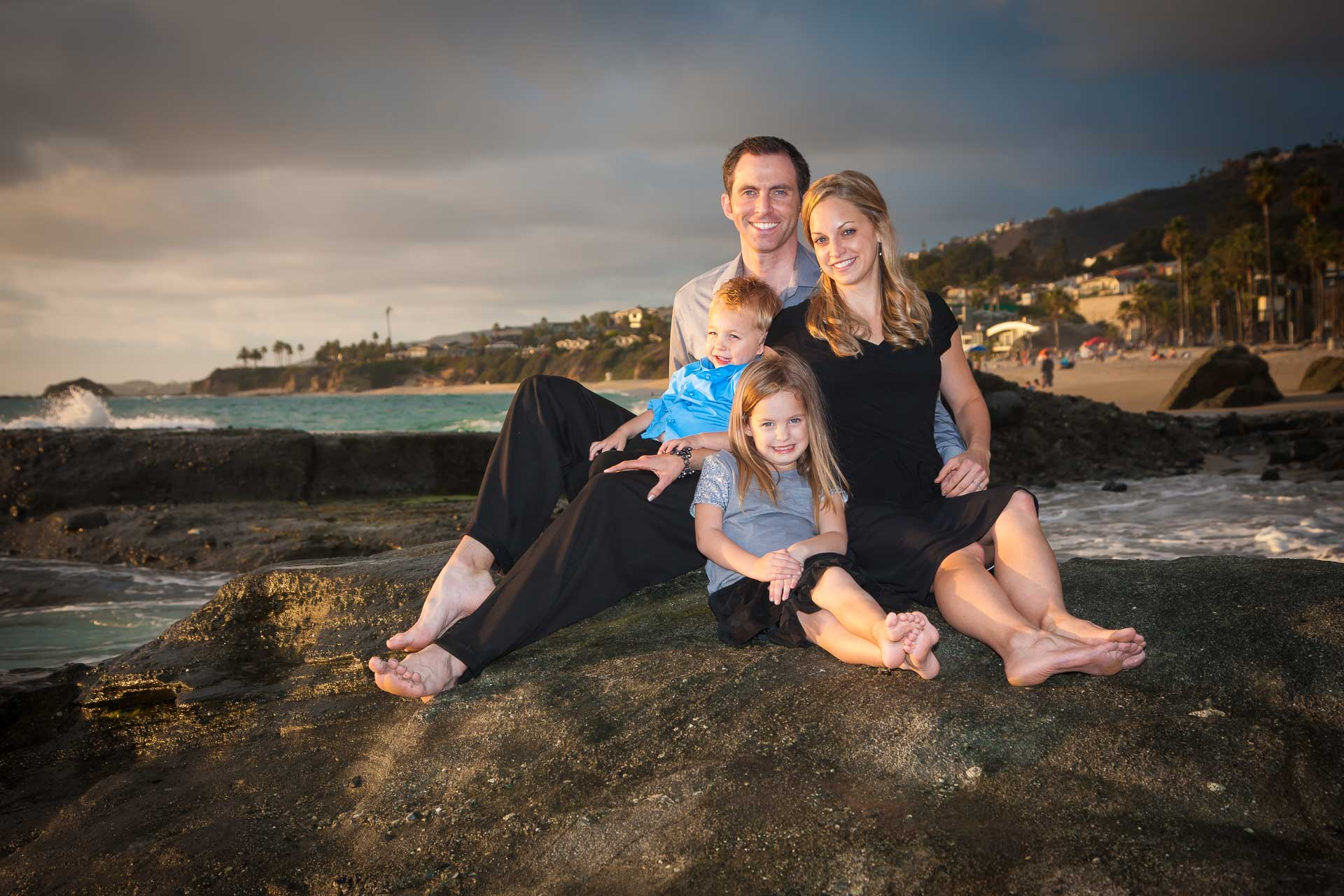 Smith  Family Portrait in Laguna Beach California